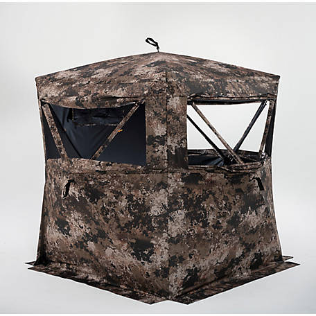 treeline 3-Person Full Zip Door Deer Blind, TSCGDHUB3-WID