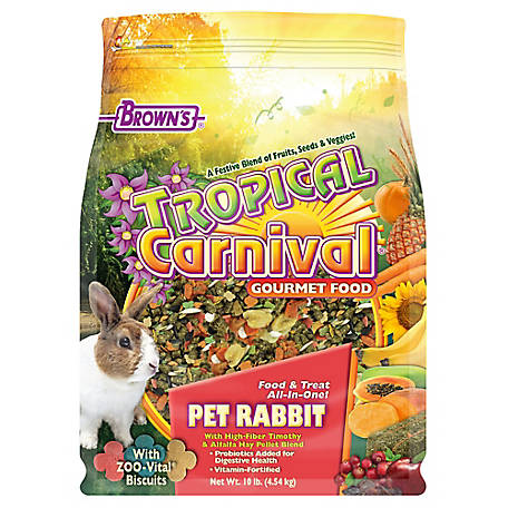 Brown's Tropical Carnival Pet Rabbit Food, 10 lb., 44722