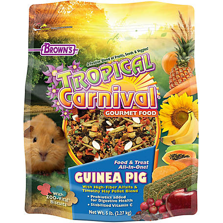 Brown's Tropical Carnival Guinea Pig Food, 5 lb., 44703