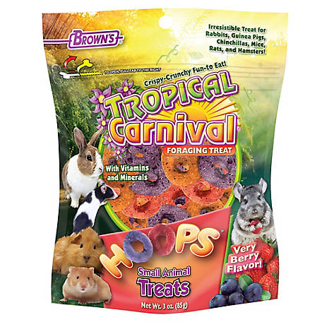 Brown's Tropical Carnival Hoops Small Animal Treat, 3 oz., 44968