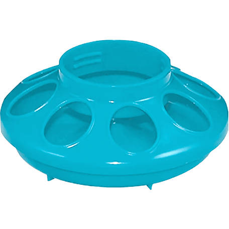 Flock Party Poly Screw On Feeder Base, Blue, 1030650