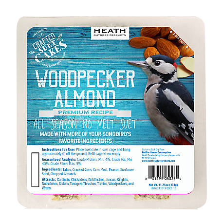 Heath Outdoor Products Heath Premium Craft Cake Woodpecker Almond, 11.75 oz.