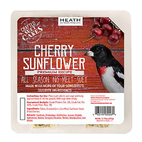 Heath Outdoor Products Heath Premium Craft Cake Cherry Sunflower, 11.75 oz.