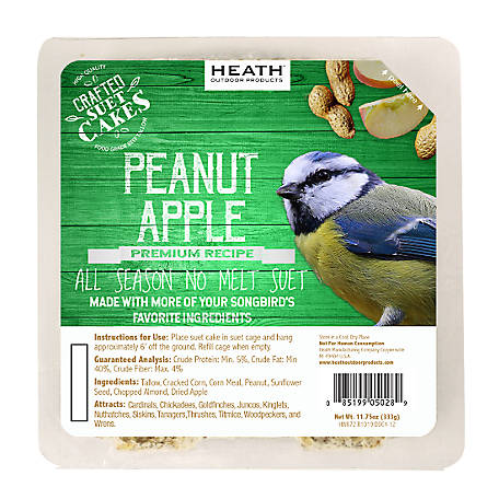 Heath Outdoor Products Heath Premium Craft Cake Peanut Apple, 11.75 oz.
