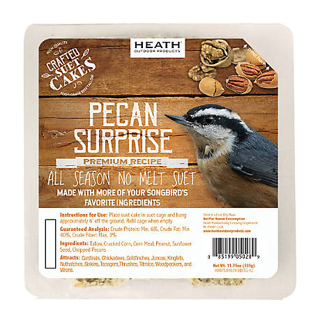 Heath Outdoor Products Heath Premium Craft Cake Pecan Surprise, 11.75 oz.