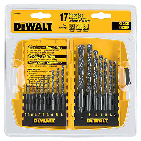 DeWALT 17 Piece Black Oxide Drill Bit Set, DW1167