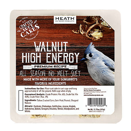 Heath Outdoor Products Heath Premium Craft Cake Walnut High Energy, 11.75 oz.