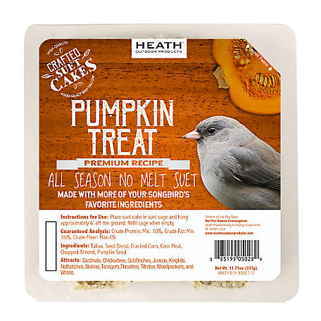 Heath Outdoor Products Heath Premium Craft Cake Pumpkin Treat, 11.75 oz.