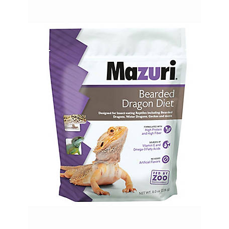 Mazuri Bearded Dragon Diet, 8 oz.