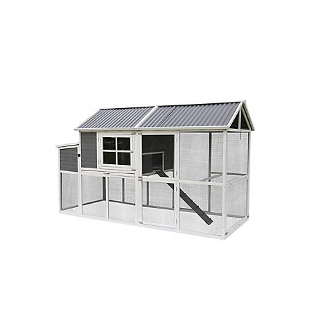 Deluxe PVC Roof Extra Large Chicken Coop, DUS200121, NO