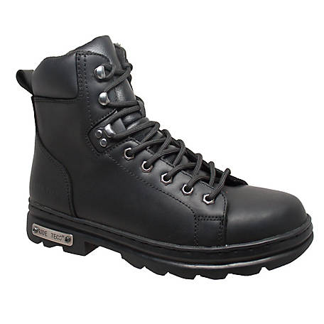 Ride Tecs Men's 6 in. Zipper Lace Biker Boot, 9807