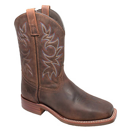 Adtec Men's 11 in. Crazy Horse Leather Square Toe Western Boot, 9828