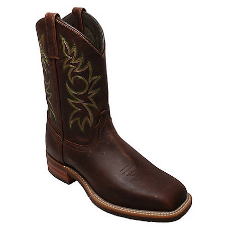 Adtec Men's 11 in. Crazy Horse Leather Square Toe Western Boot, 9829