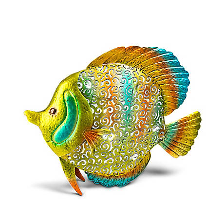 Garden Meadow 18 in. Metal and PVC Tropical Fish, Multi-Color, 71130EC-1