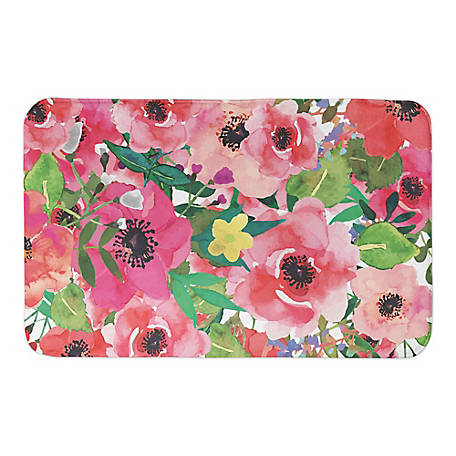 Designs Direct Bright Floral Pattern 34 In X 21 In Non Skid Bath Mat 5276y At Tractor Supply Co