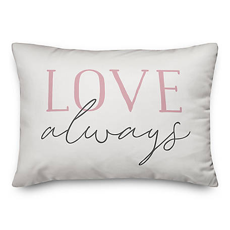 Designs Direct Love Always Always Love 14 in. x 20 in. Throw Pillow