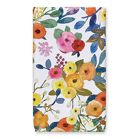 Designs Direct Wildflower Floral 16 in. x 25 in. Tea Towel, 5566-AA