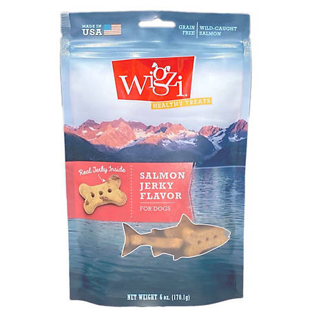 Wigzi Healthy Treats, Salmon Jerky Flavor, 6 oz.