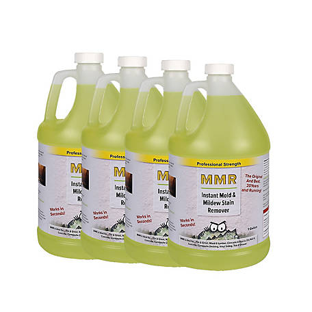 MMR Fast Mold Removal Professional Instant Mold and Mildew Stain Remover and Mold Killer Concentrate, 4 gal., MMR4G