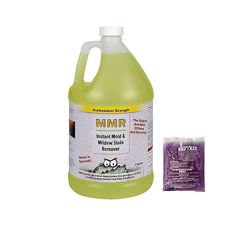 MMR Fast Mold Removal Professional Instant Mold and Mildew Stain Remover and Mold Killer Concentrate, 1 gal. and 2 oz. Onslaught