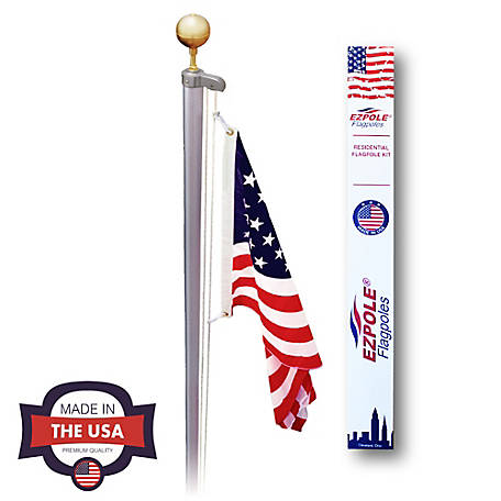 EZ Pole 21 ft. Sectional Flagpole Kit with Rope, EZC21