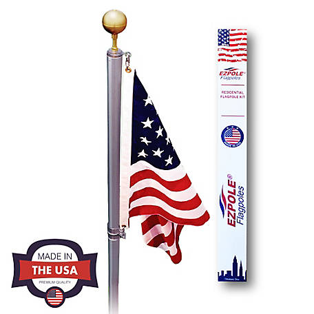 EZ Pole 17 ft. Swivel Sectional Flagpole Kit, EZD17