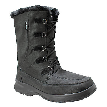 FreeShield Women's Water Resistant Fur Lined Lace Up Winter Boot