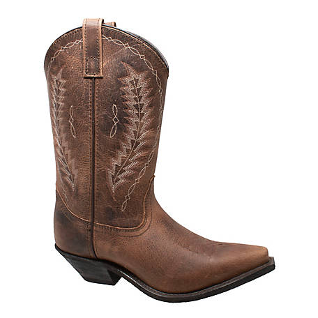 Adtec Women's Snip Toe Leather Stitched Western Boot, 8878