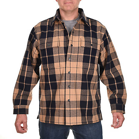 Ridgecut Men's Long Sleeve Heavy Flannel Shirt Jacket