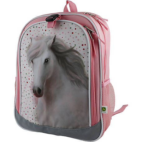 John Deere Girls' Horse Backpack