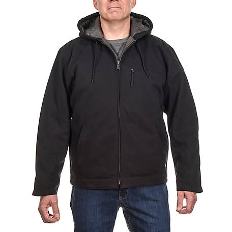 Ridgecut Men's Quilt-Lined Super-Duty Sanded Duck Hooded Jacket