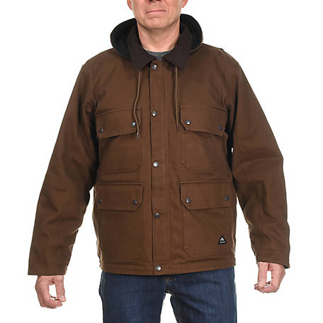 Ridgecut Men's Fleece-Lined Super-Duty Sanded Duck Contractor Coat