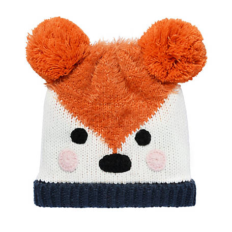 Igloos Youth Woodland Critter Cuff Cap with Pom