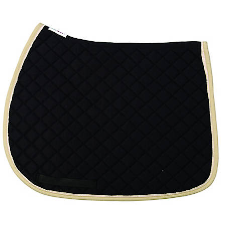 TuffRider Basic All Purpose Saddle Pad with Trim and Piping, 100558, 100558-258-01-01-16-ST