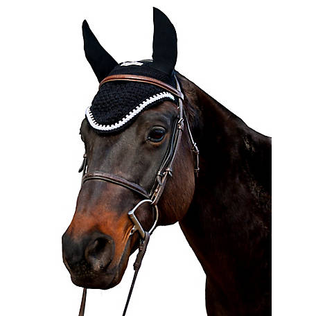 Equine Couture Fly Bonnet with Silver Rope & Crystals, 110742