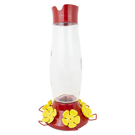Perky-Pet Top-Fill Grand Master Glass Hummingbird Feeder, 48 oz., 9204-6