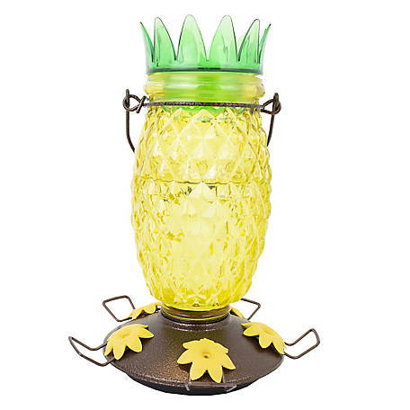 Perky-Pet Pineapple Top-Fill Glass Hummingbird Feeder, 28 oz, 9110-2