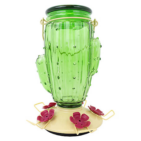 Perky-Pet Cactus Top-Fill Glass Hummingbird Feeder, 32 oz., 9111-2