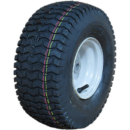 Hi-Run Lawn & Garden Tire Assembly 16 in. x 6.50-8 in. 4PR SU12 on 8 in. x 5.375 in. Grayish White Wheel, ASB1166