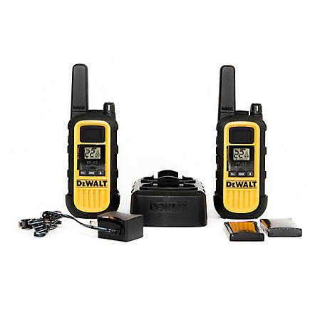 DeWALT 1 Watt Heavy Duty Walkie Talkie, 2 Pack, CBA-DXFRS300