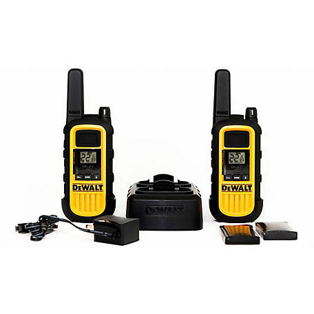 DeWALT 2 Watt Heavy Duty Walkie Talkie, 2 Pack, CBA-DXFRS800