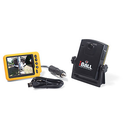 iBall Wireless Trailer Hitch Camera with Lithium Ion Battery Camera, Color 3 1/2 in. Monitor, Magnetic Mounting, 500-0506