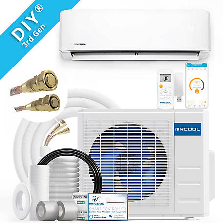 MRCOOL DIY 3rd Gen 34,500 BTU 16 SEER Smart Ductless Mini-Split AC and Heat Pump with 25 ft. Install Kit 230V, DIY-36-HP-230B25