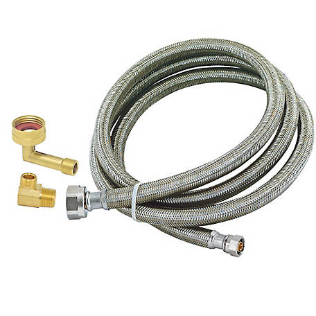 Eastman 6 ft. Braided Stainless Steel Dishwasher Connector, 41032
