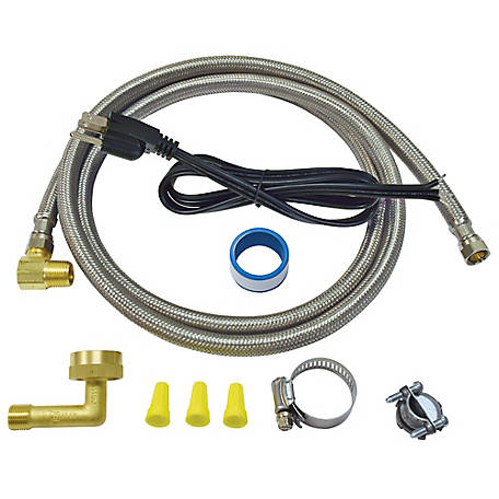 Eastman 6 ft. Dishwasher Installation Kit with Straight Cord, 41150