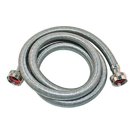 Eastman 4 ft. Braided Stainless Steel Washing Machine Hose, 48367