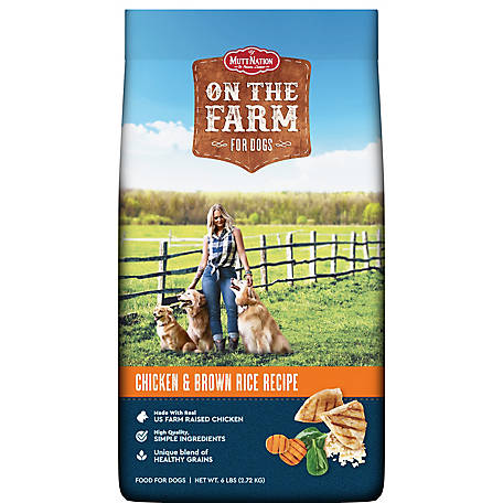 MuttNation On The Farm Chicken & Rice Dog Food, 6 lb. Bag