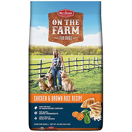 MuttNation on the Farm Chicken & Rice Dog Food, 30 lb. Bag