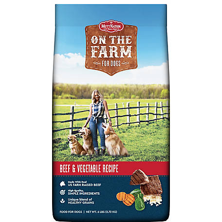 MuttNation On The Farm Beef & Vegetable Dog Food, 6 lb. Bag