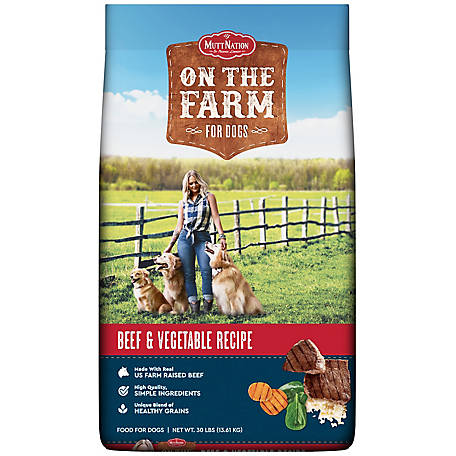 MuttNation On The Farm Beef & Vegetable Dog Food, 30 lb. Bag